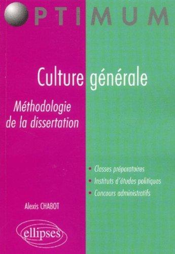 Culture générale : Méthodologie de la dissertation