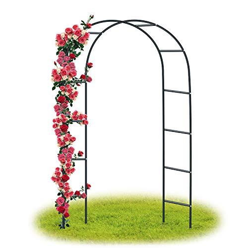 Forever speed arco per rose rampicanti , decorazione giardino, garden pergolas metallo arco sostegno per piante rampicanti 240 x 140 x 38 cm / nero