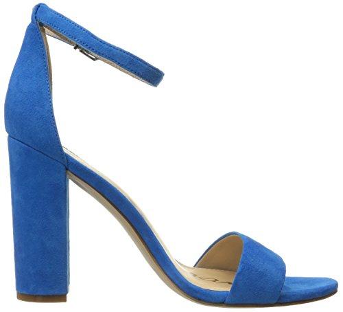 Sam Edelman Yaro, Sandales Compensées Femme Aquarian Blue Suede