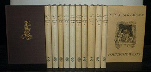 Poetische Werke. Band 1 bis 12 komplett. [Von E.T.A. Hoffmann, mit Federzeichnungen von Walter Wellenstein und einer Vorrede von Jean Paul].