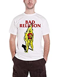 Bad Religion Shirt Boy On Fire Suffer Band Logo Official Mens White