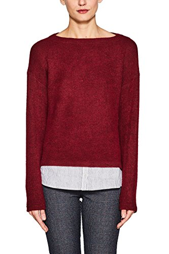 ESPRIT Damen Sweatshirt 998EE1J800, Rot (Cherry Red 615), Medium