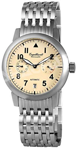 Engelhardt Herren Analog Mechanik Uhr mit Edelstahl Armband 388927528002