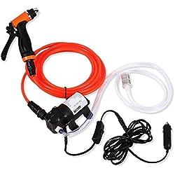 Pompe de lavage de voiture électrique - Laveuse à pression 12V Kit de lavage électrique for pompe à eau auto-amorçante à haute pression portable haute pression