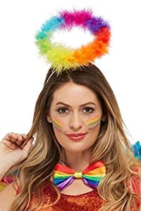Smiffys 50994 Rainbow Angel Halo, Unisex Adulto, Multicolor, Talla Única