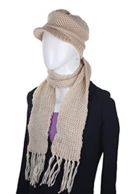 ELLIS Woolen Cap and Muffler Combo for Women
