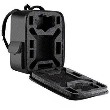 Neewer Wasserdichtes UAV Rucksack mit abnehmbaren dichten Schaum, Reisetasche für DJI Phantom 1 FC40 2 2 Vision 2 Vision + 3, DJI 3 Professional, Advanced, Standard, 4K-Kameras und Zubehör (Schwarz) -