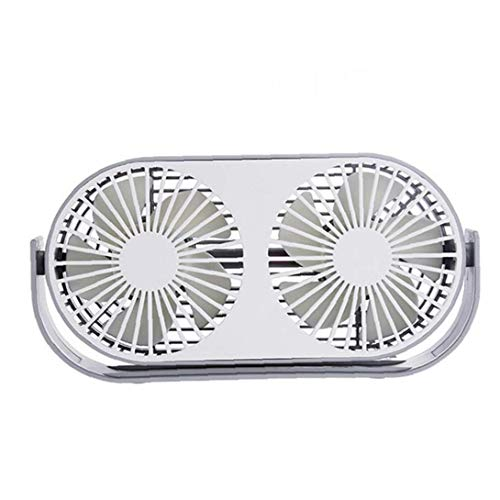 Creativa USB Portátil De Doble Ventilador Giratorio De 360 ??Grados Cabeza 3...