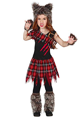 Magic Box Int. Kinder Halloween Werwolf Mädchen Kostüm Small 3-4 Years (Werwolf-mädchen Kostüm Halloween)