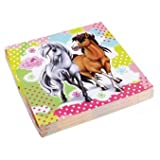 Amscan 20-Piece Charming Horses Napkins Party Accessory