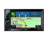 Clarion NX302E 2 DIN Multimedia Radio mit DVD Navigation 15,7 cm (6,2 Zoll) Display Bluetooth schwarz