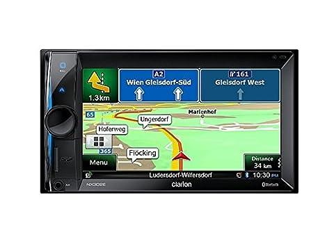 Clarion NX302E 2 DIN Multimedia Radio mit DVD Navigation 15,7 cm (6,2 Zoll) Display Bluetooth