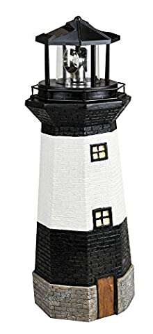 Kingfisher Solar Powered Traditional Garden Lighthouse