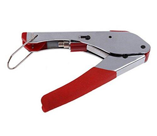 ESUMIC® RG59 RG6 connettore Crimpatrice manuale Attrezzo di piegatura Impermeabile Rosso (Red)