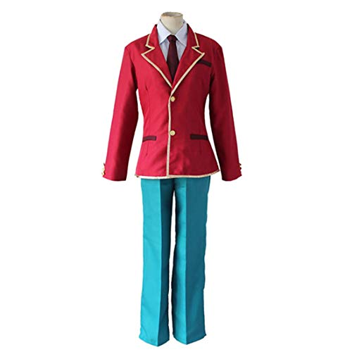 DXYQT Anime Cosplay Charakter rote Jacke und Hose Party Kostüm komplettes Buch Tag Kostüm Jungen,Red-XL