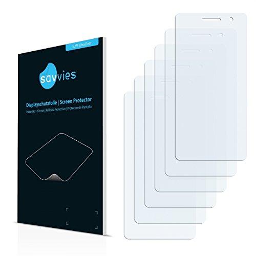 6x Savvies SU75 UltraClear Displayschutz Schutzfolie für Oppo R3 (ultraklar, mühelosanzubringen)