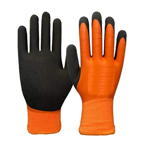 Arbeitsversicherung Plus Samthandschuhe, Reithandschuhe, Kühl- und Gefrierkühlung, Kühlhandschuhe LFOZ (Color : Orange×2, Size : M) -
