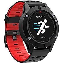 af7be41bd818 WANGXN Relojes Deportivos Digitales para Hombres GPS Que Funciona con Reloj  Inteligente con Monitor De Ritmo