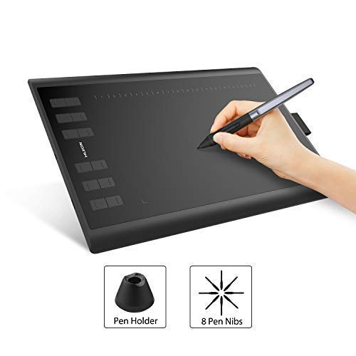tablet windows android HUION Inspiroy H1060P Tilt Function Battery Free Penna Grafica Tablet Digital Drawing Pittura Tablet con 8192 Pen Pressure e 12 Chiavi Personalizzate supportano Windows