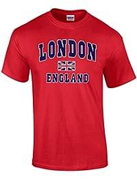 Londres Inglaterra camiseta, camiseta de manga corta de algodón T-Shirt – Unisex