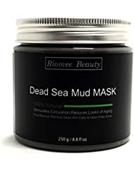 Roimee Beauty 100% naturel traitement facial masque de boue de la mer morte, minimiser les pores, réduit les rides, empreintes de réapprovisionnement en eau profonde, le nettoyage, l'acné, nettoyant cutanée profonde organique, et améliorer la couleur de peau.250g / 8,8 oz.