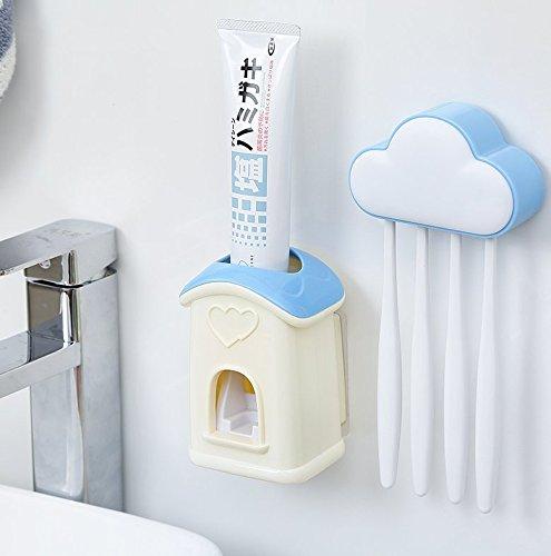 Automatique de Dentifrice Brosse à dents Dentifrice Extracteur rack Set rose