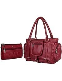 Sleema Fashion New Look New Stylish Amazing Bag Women's And Girls Stylish Handbag (Maroon 02)