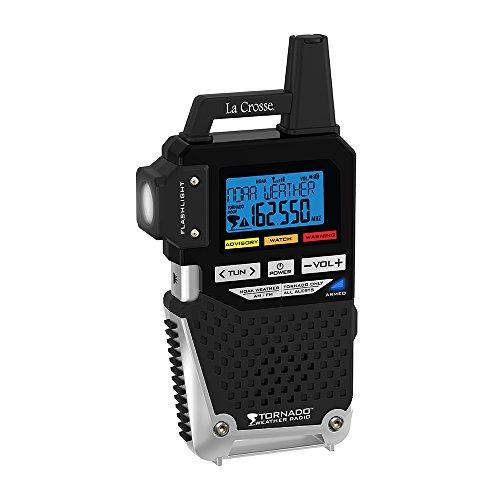 La Crosse Technology 810-163TWR NOAA/AM/FM Weather Alert Radio with One Button Alert for Tornado Only by La Crosse Technology