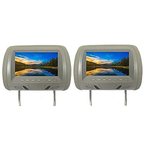 oll-Kopfstütze Auto DVD hinten montiert AV-Player Monitore FM LCD-Display Sender HD Car Display 2-TLG,Gray ()