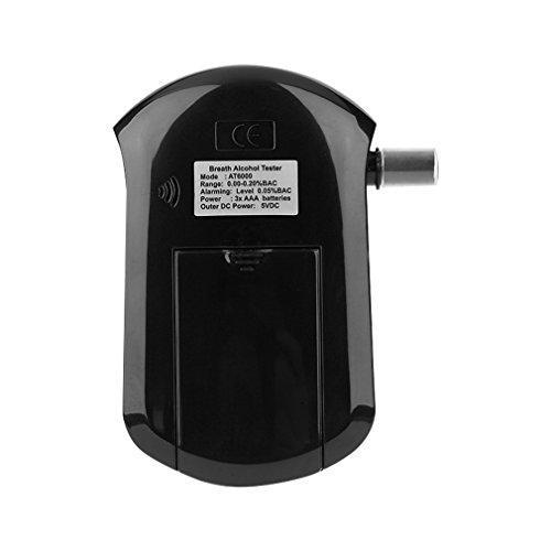 Alkoholtester, LESHP Professionelle Atemalkohol-Tester Analyzer Detector Atemalkohol-Tester mit LCD Display & 5 Mundstücke - 6