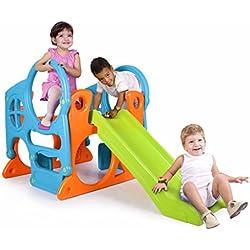 FEBER Activity Center - Centre d'activités avec toboggan pour enfants de 2 à 7 ans (Famosa 80001020247)