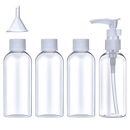 Set de Botella de Viaje de Plástico (100 ml) Contenedor de Avión Tra