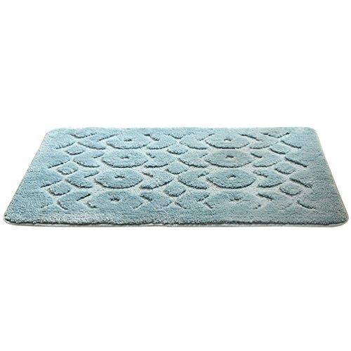 Casual Home Badteppich (Dexinx Casual Rutschfeste Absorbent Badvorleger für Badezimmer Weich Rutschfest Antibakteriell Waschbar Badematte Dunkelblau 60)