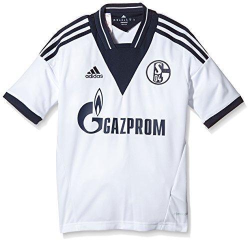 adidas Jungen Trikot FC Schalke 04 Away Jersey Youth, White/Collegiate Navy, 152, Z34762