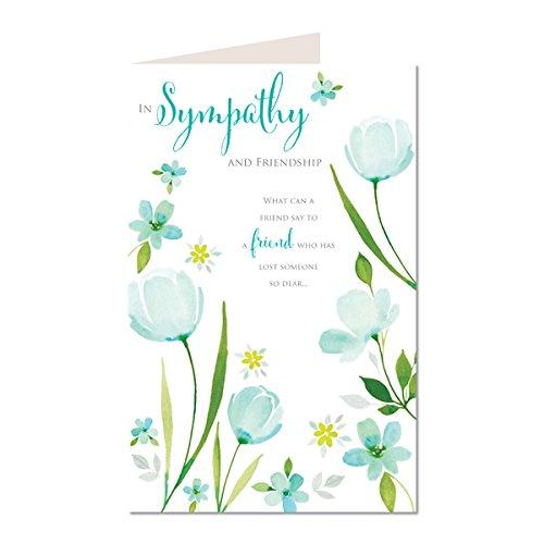 In Sympathie und Freundschaft Was kann man einen Freund für einen Freund, der verloren hat jemand Dear Modern Classic Blume K2 Karte Trauer Balken;