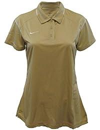 Nike Game Day de la mujer Polo, M, Dorado/Blanco(Vegas Gold/White)