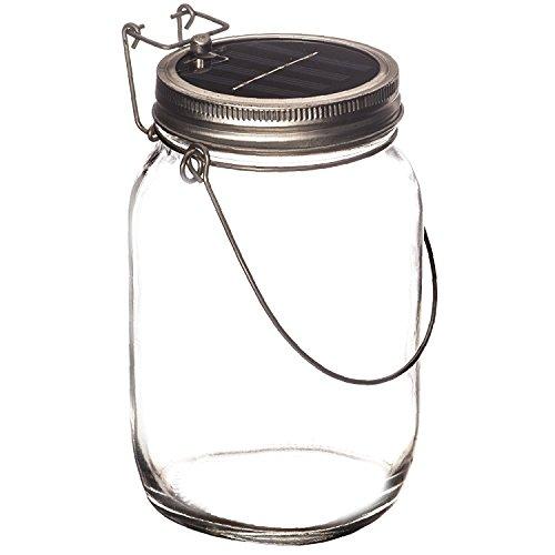 Trend Ario | LED lampada solare in vasetti in vetro | Solare Lanterna come un perfetto lampada da giardino | Solar Sun Jar, Sonnen lampada a sospensione in vetro | Solar vetro con extra lungo