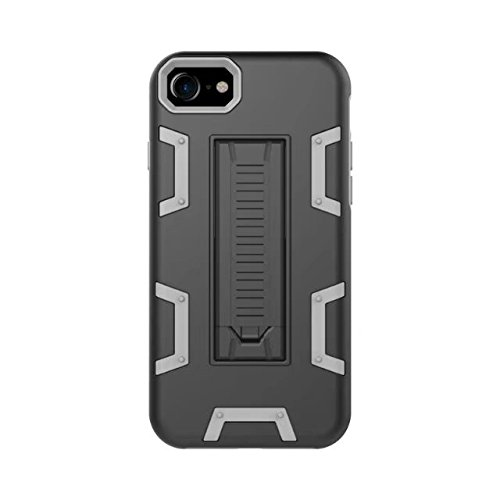 iPhone 8 Hülle, Lantier [Robot Series] Slim Armor Fit Dual Layer Hybrid Protective Case Advanced Shock Absorption Protection High Impact Resistant Hybrid Case with Kickstand für Apple iPhone 8 Schwarzgrau