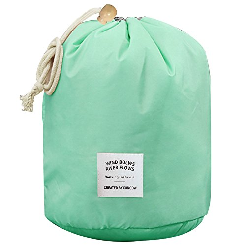 Preisvergleich Produktbild Tragbare Multifunktionale Travel Tunnelzug Beutel Storage Bag Travel Kosmetik Make-up Organizer Kulturbeutel Grün