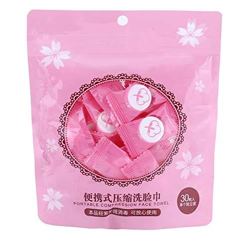 FTVOGUE 100 STÜCKE Komprimierte Mini Gesichtstücher Atmungsaktiv Vlies Abwischen Reinigungstuch für Reise-einfach Wasser hinzufügen(01) - Einfache Reinigungstücher