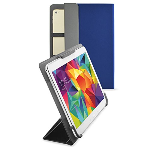 Hp-10 Tablet-fall Android (vanctec Universal Tablet Hülle 25,4 cm, Tablet Fall 25,4 cm, Universal Tablet PU Leder Folio Stand Cover mit Standfunktion Kamera gratis für Android Windows Tablet ASUS, Acer, RCA, Dell, HP blau blau 22,9-25,4 cm (9-10 Zoll))