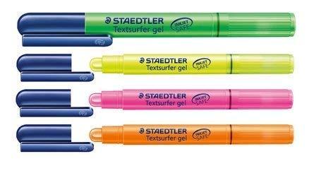 """STAEDTLER Textmarker """"Textsurfer gel"""" 4er Set"""