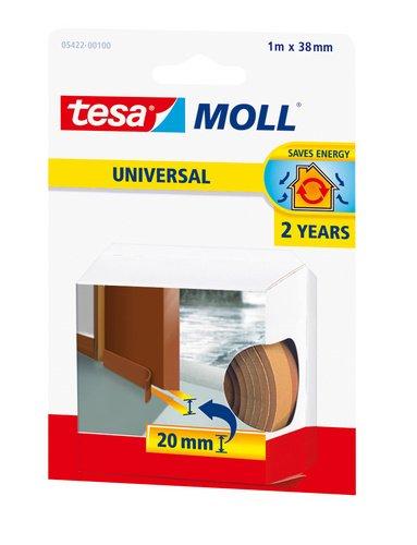 Tesa 05422-00101-00 - Burlete de espuma para umbral de puertas, 1 m x 38 mm, color marrón