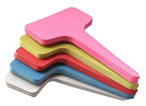 meta-label spessore in plastica impermeabile vegetali T-Type Tag Marcatori Nursery Giardino etichette 10(6)