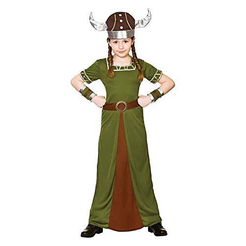 Wikinger Prinzessin Kostüm - Mädchen Historische Wikinger Kostüm (8-10 Jahre)