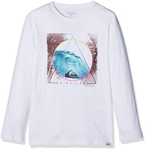Ls Tee T-shirt (Quiksilver Jungen LS Tee Yth Tri Classic Bermuda Trian-Long Sleeve T-Shirt, Bright White, M/12)