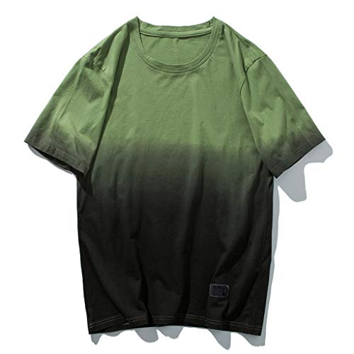 EUZeo Herren Casual Farbverlauf Kurzarm T-shirts Rundausschnitt kurzärmelig T-Stücke Tops Lässig Mode Teens Shirts Hemden Sweatshirts