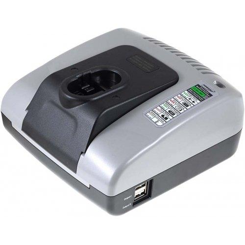 Preisvergleich Produktbild akku-net Akku-Ladegerät mit USB für Bosch Rasentrimmer Art 23 14,4V, 7,2V-36V