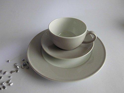 Dibbern Solid Color - Kaffeetasse m.U. 0,25 + Teller 21 cm - Pearl - Solid Color