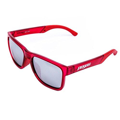 Pegas occhiali da sole sportivi polarized con protezione uv400 per uomini donne esterni sport pesca spiaggia driving ciclismo outdoor (rosso)